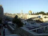 The wailing Wall and access to the Dome of the Rock (49 kbytes) - Click to enlarge