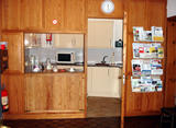 Kitchen from foyer centre (69 kbytes) - Click to enlarge